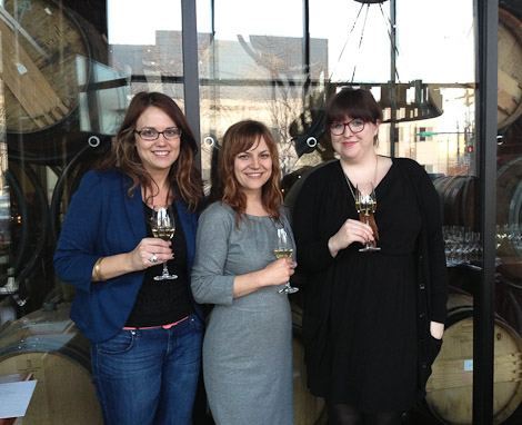 Pre-class at City Winery, with my truly amazing hosts Heather Engwall and Joanna Miller.