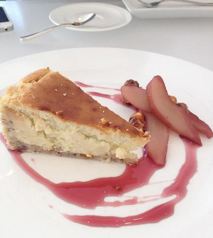 The Modern's Gorgonzola cheesecake.