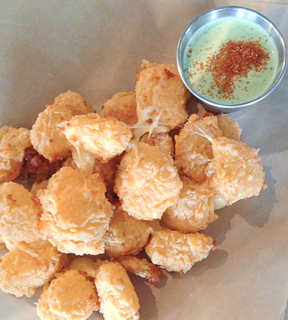 Sassy Cow curds in a Hopilcious beer batter.
