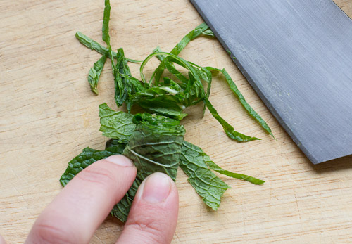 How to Chiffonade Mint (1 of 1)