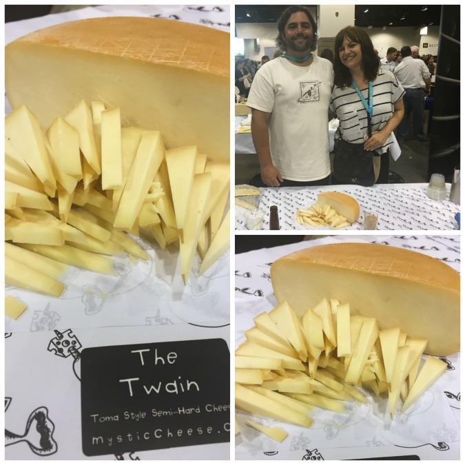 Mystic Cheese Cheesemaker Brian Civitello and his wheels.