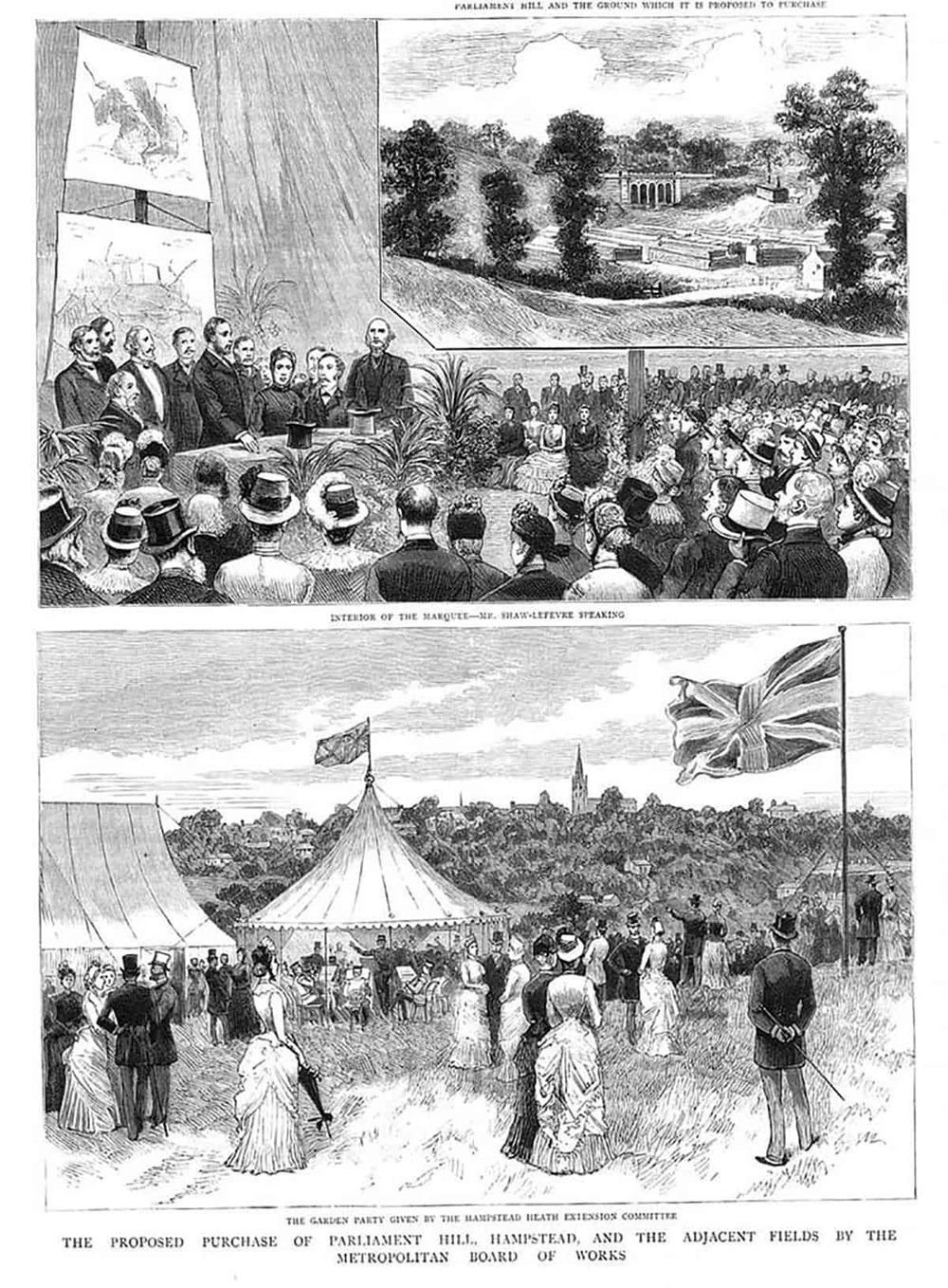 1885 HAMPSTEAD HEATH Parliament Hill and Adjacent Fields, 1885_1.JPG