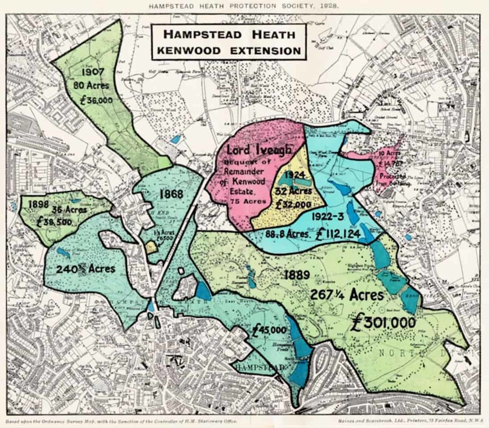 Hampstead Heath Kenwood Protection Map, 1928.jpg