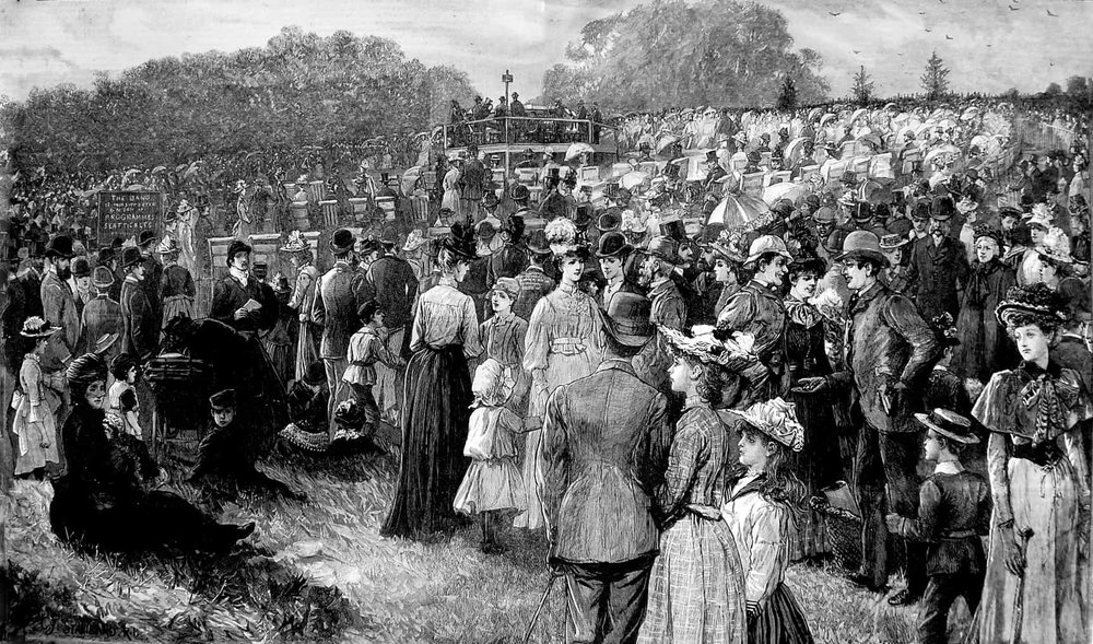 1891 Hampstead Heath Music Band People.jpg