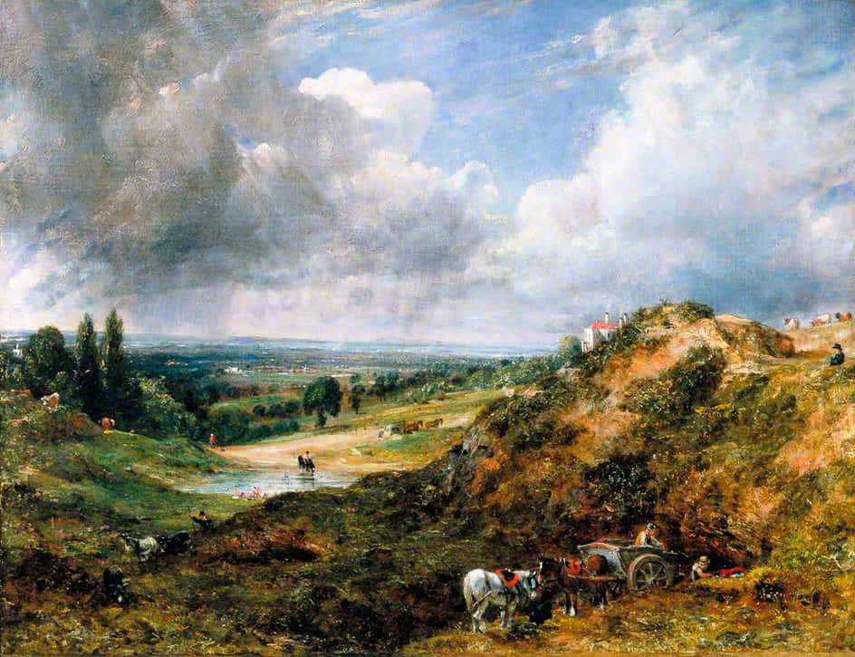 Branch Hill Pond, Hampstead Heath, 1828 by John Constable