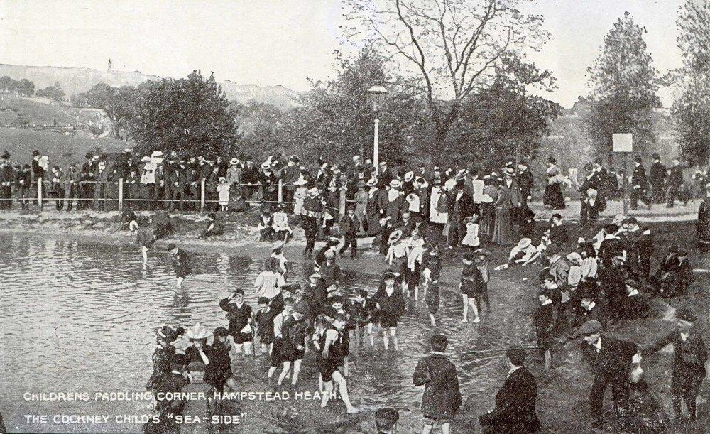 1907 Childrens Paddling Corner, Hampstead Heath. The Cockney Child's Sea-Side.jpg