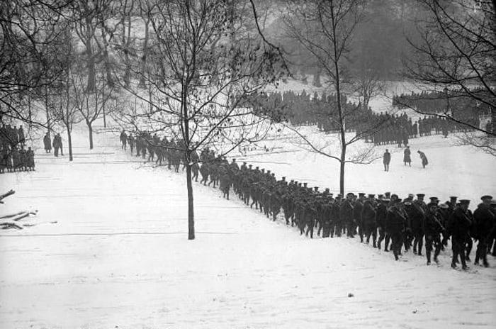 March drill, 1916