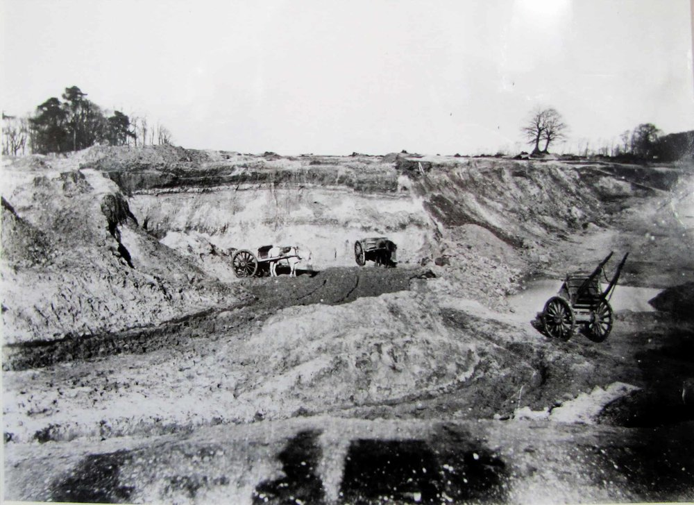 A sand quarry by Spaniards Road, 1866