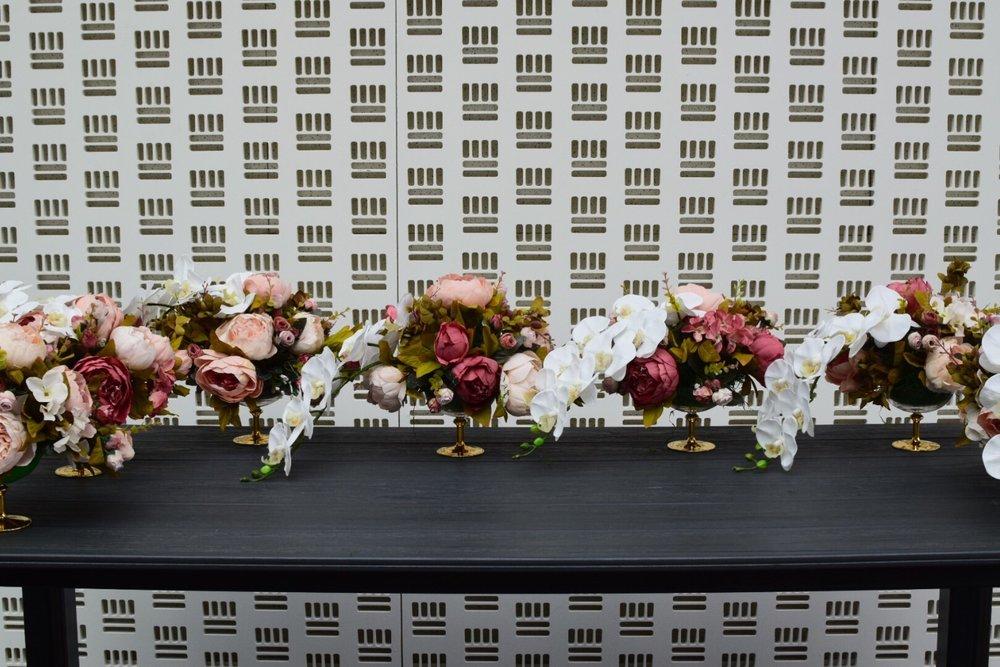 @Venue42 NYE Silk Floral Centerpieces