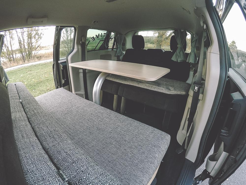 Minivan Table