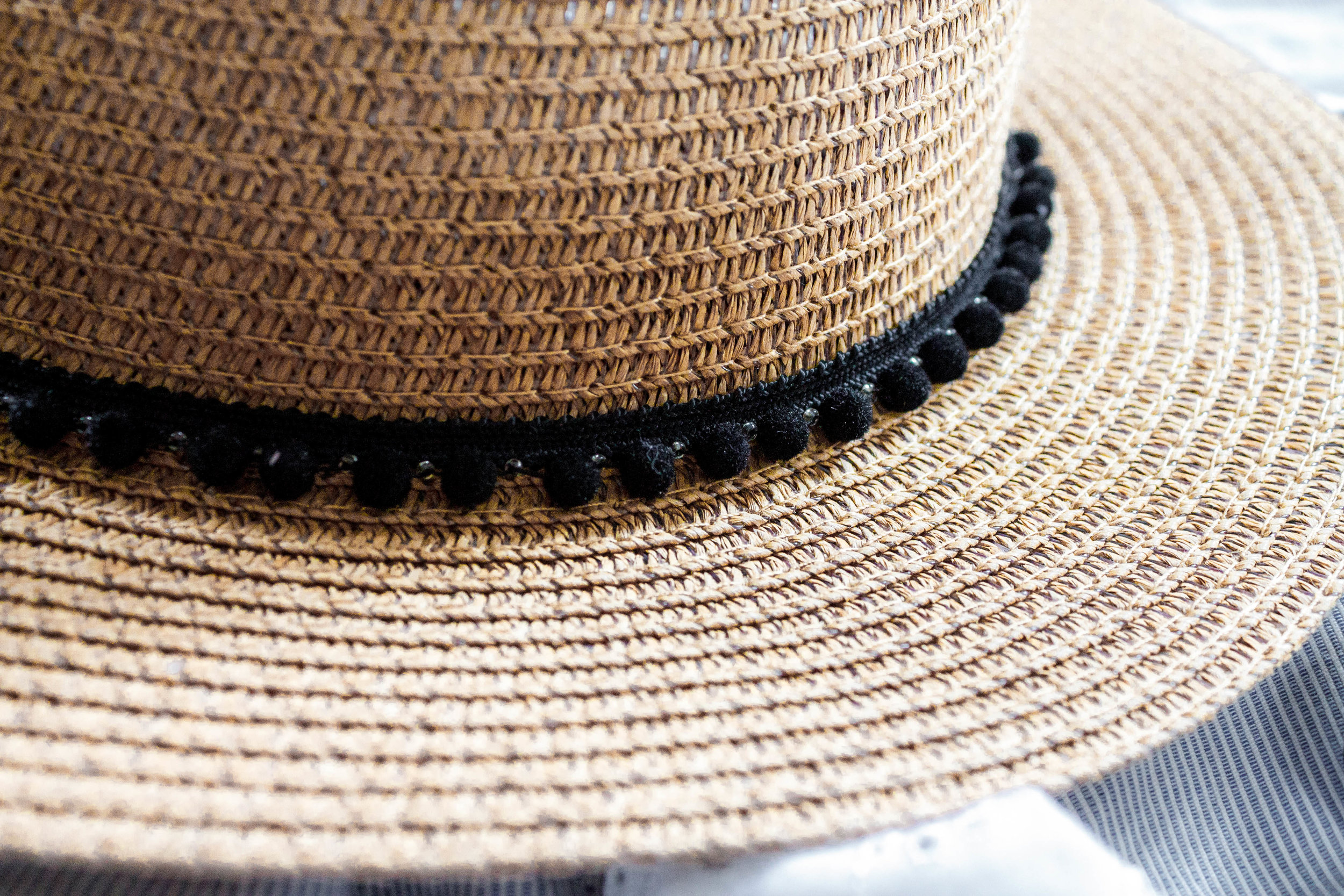 Straw sun hat summer holiday wardrobe
