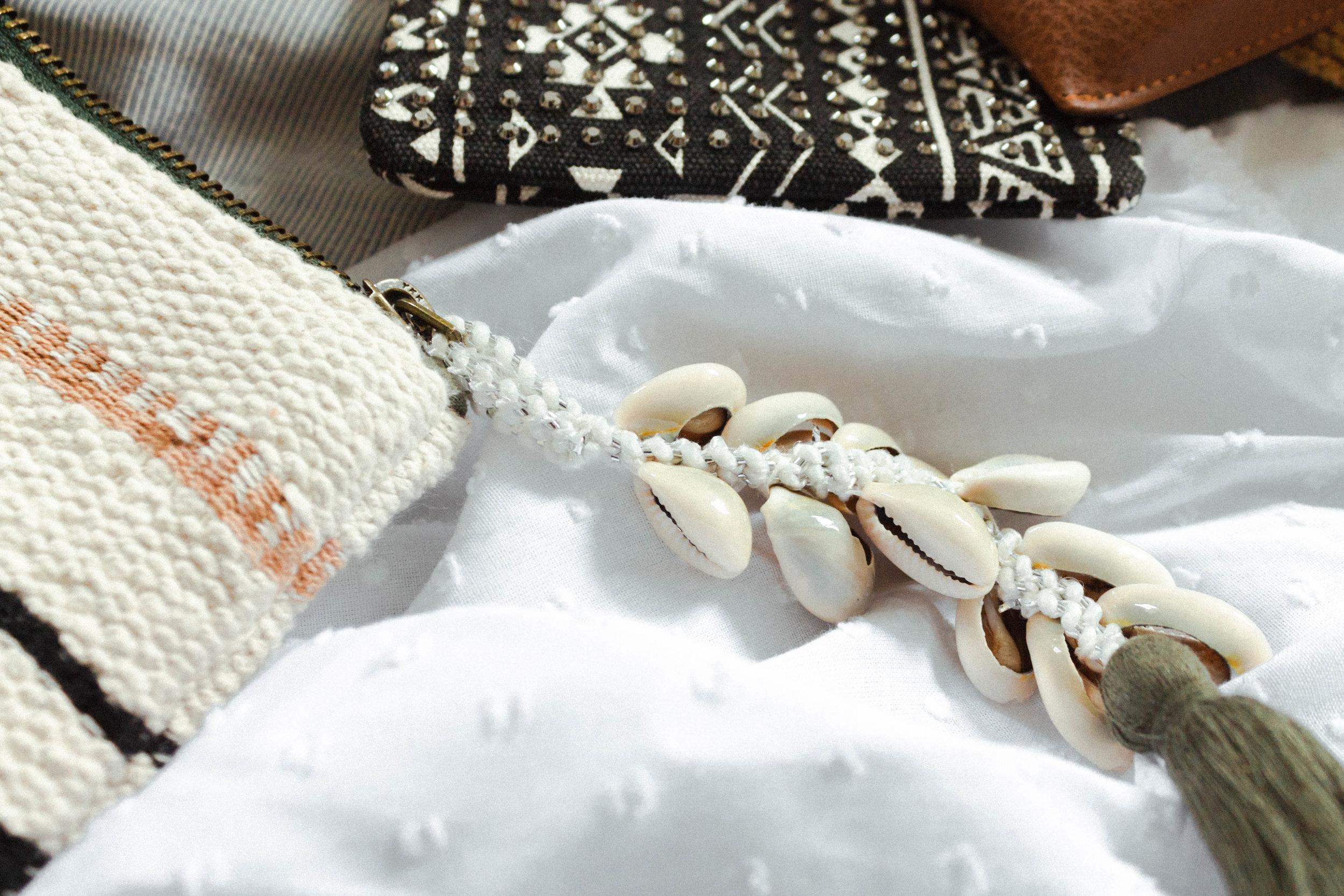 Shell bag charm, summer holiday