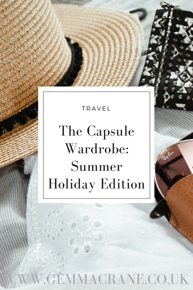 The Capsule Wardrobe: Summer Holiday Edition Blog Graphic Pinterest