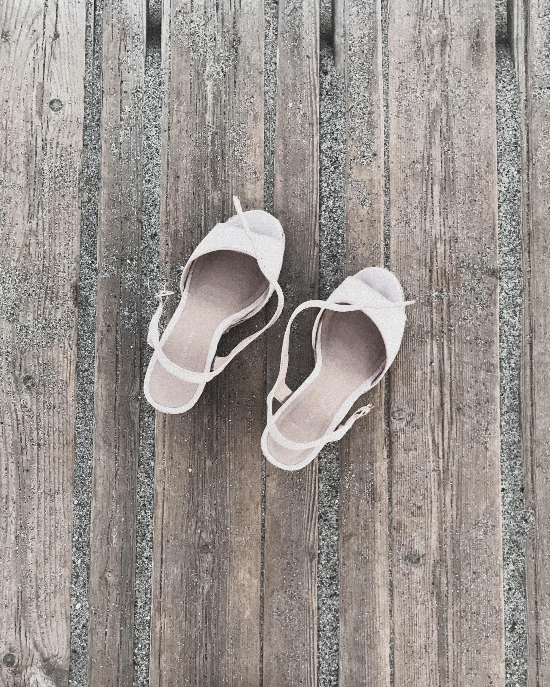 Shoes on Boardwalk, Kos, Greece, Beach