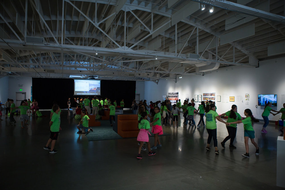 150 students participated in workshops that centered around the musical PUDDIN' AND THE GRUMBLE at  KANEKO  in Omaha.