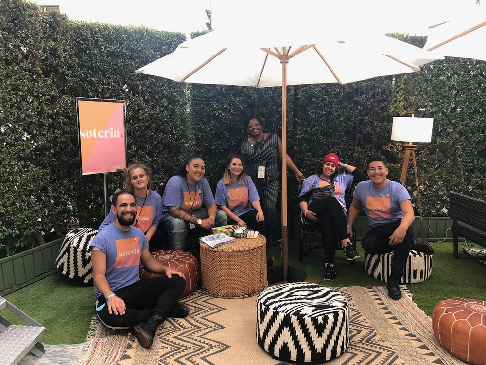 Our Impact Team in the soteria. activation at SUMMIT LA, Fall 2018