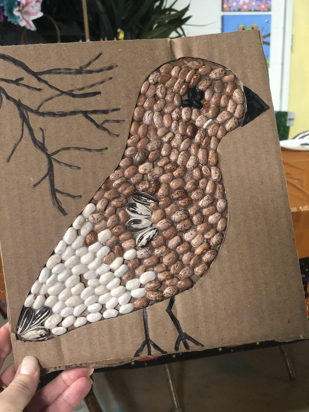 Bean Mosaic Bird