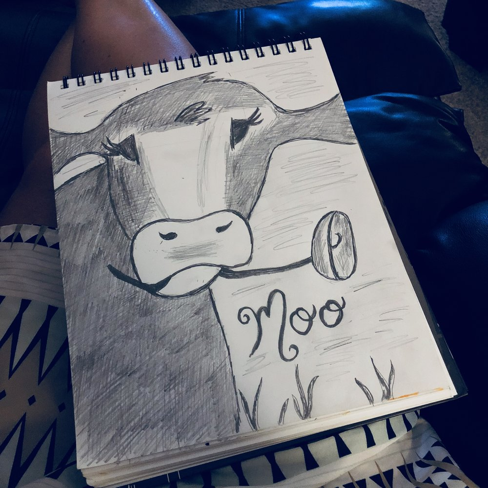 Cow Pencil Drawing