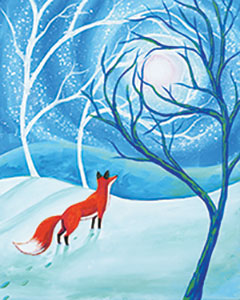 Fox in the Forest - Canvas, Crafts n' CabernetAges 13+