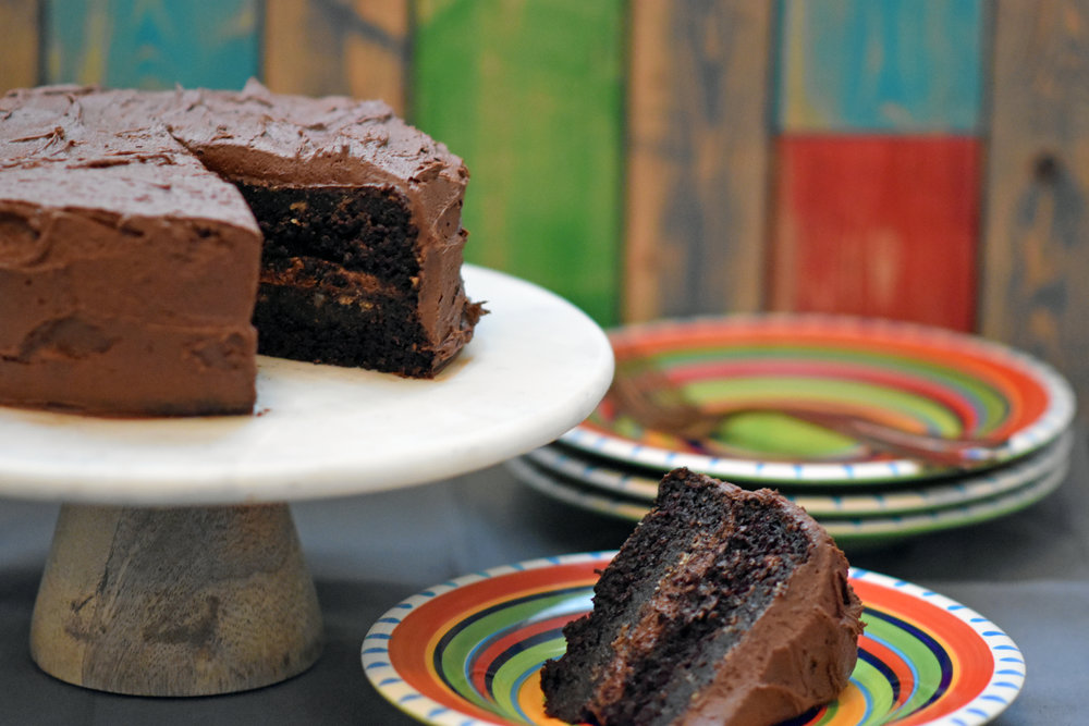 you'd never know it's vegan chocolate cake - cake so good you'll want it for dinner
