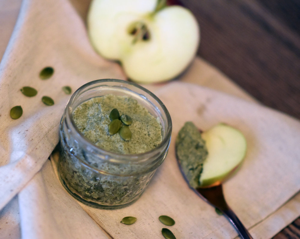 pumpkin seed butter - because the delivery guy won't bring it just for me