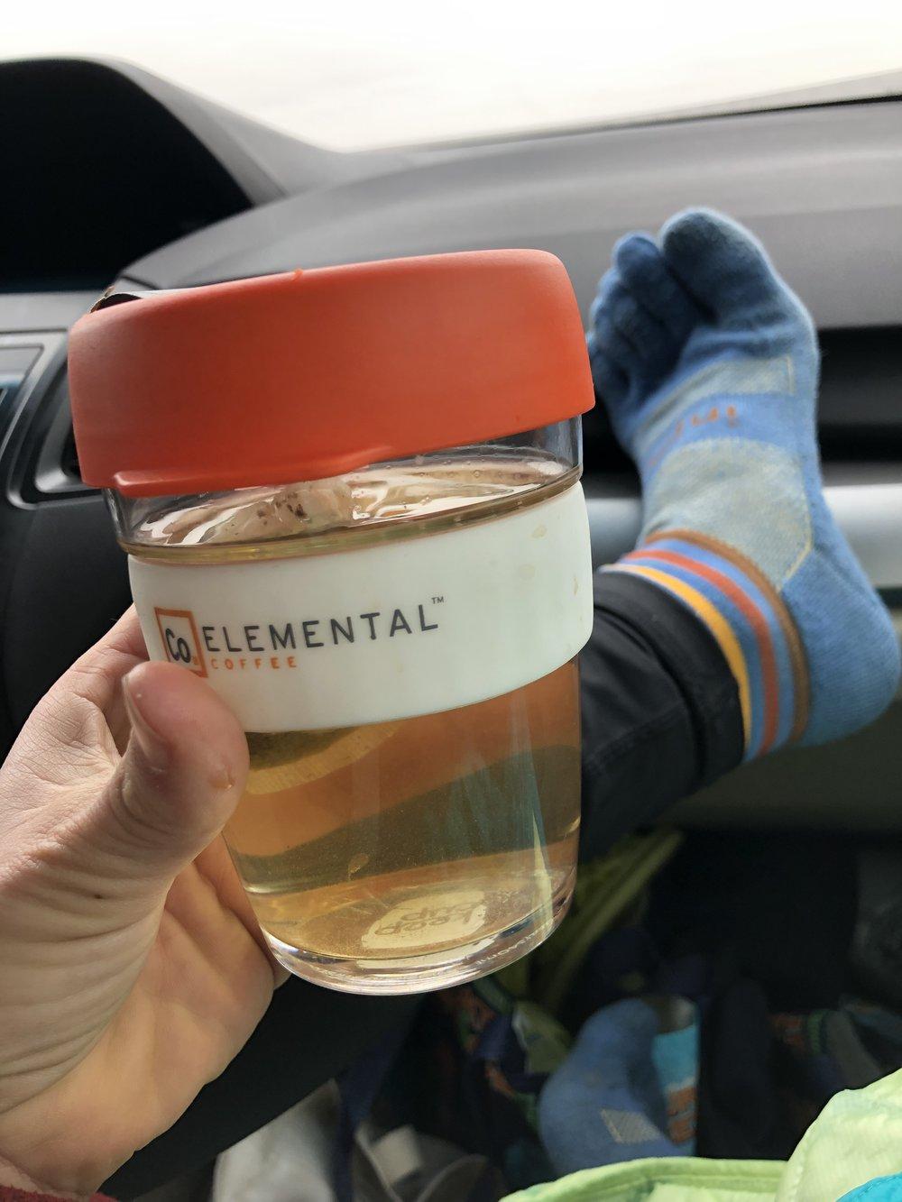 but i had toe socks and hot tea - we can call that prepared