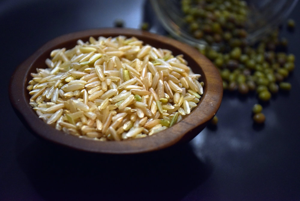 rice & mung beans - who spilled the beans?