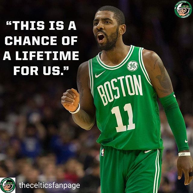 So true @kyrieirving. Let's go!