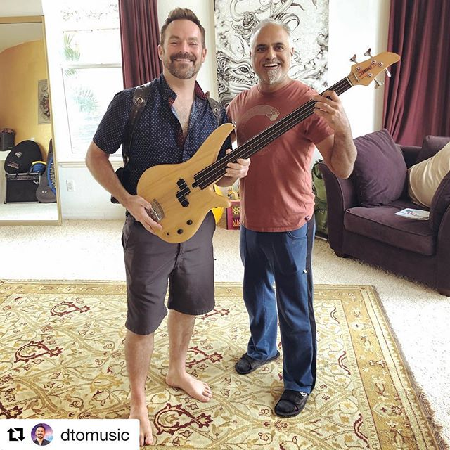 "#Repost @dtomusic with @get_repost ・・・ Stoked!  I bought my 1st bass guitar from @binarymonkey 🙌 It was Sandy's 1st bass as well. Get ready for some fresh bass grooves on my upcoming album, Radiant Energy by @DTOmusic 🎶 mid-2019 launch. 🙏 ॐ ""Raising the vibrations of the planet through art and music"" ~ Buddha Music Group #BassGuitar  #DTO #DTOmusic  #InfiniteEnergy #inspirational #healing #yoga #meditation #yogaalbum #yogaeverydamnday #yogamusic #yogaplaylist #chakras #namaste #buddhamusicgroup"
