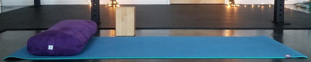 Individual yoga at Enby Flow