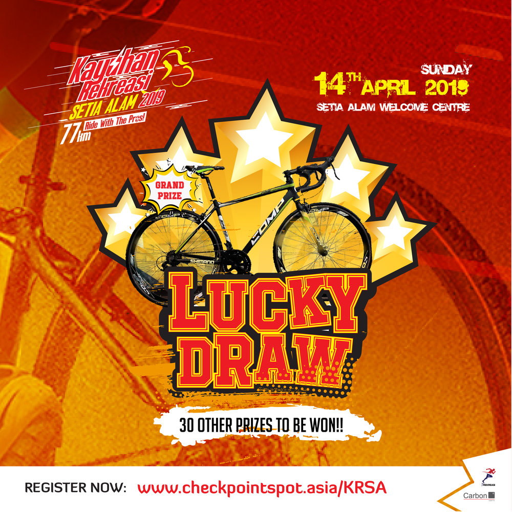 Make sure to stay for lunch after the fun ride to participate in this luck draw!