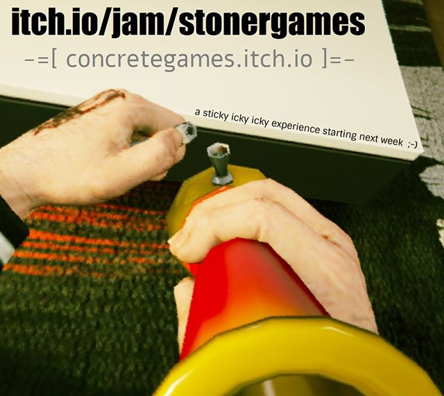 We are about to participate in this gamejam --  https://itch.io/jam/stonergames It should be fun :D #indiedevhour #gamejam #ganjam #stonergames #stoner #jam #indiegamedev #indiedev #indie #videogames #itch #itchio #experiment #experimental #lab #laboratory #experience #psychedelic #gamedev #weed #marijuana #blunt #stickyickyicky #bang #indiegamestudio #alteredconsciousness #stone #high #canabis #indiegames