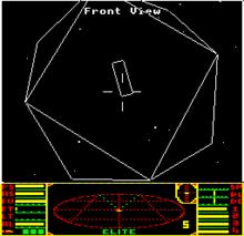 Elite in action. Source: https://commons.wikimedia.org/wiki/Sinclair_ZX_Spectrum#/media/File:ZXSpectrum48k.jpg