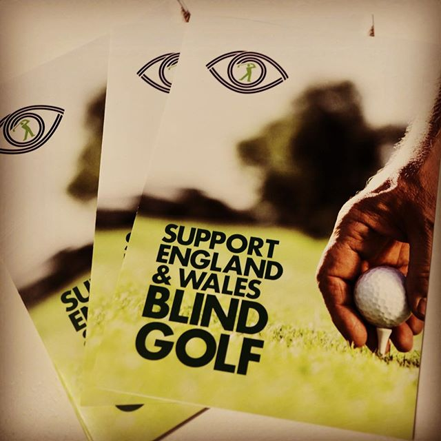 Show your support for England & Wales Blind Golf. #blind #golf #support #leaflets #print