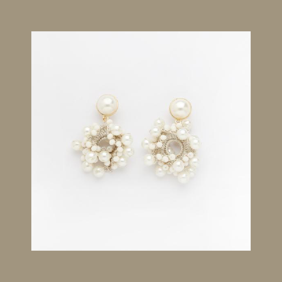 Bella Earrings in White, Valet Studio