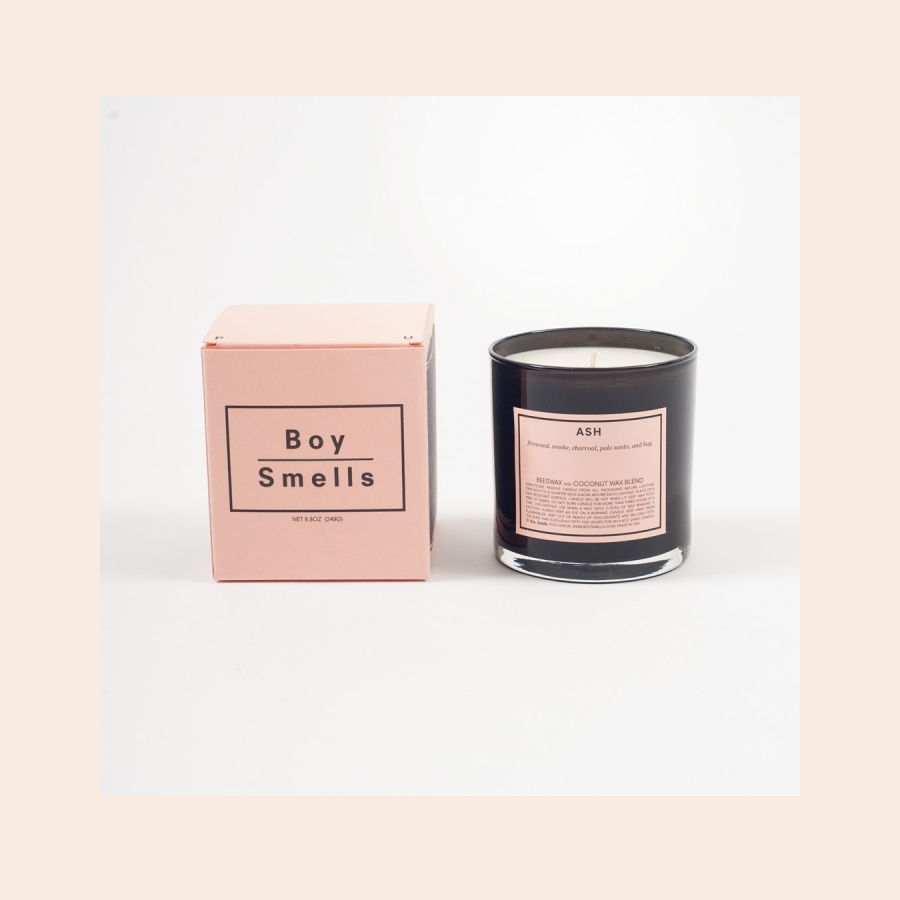 Boy Smells Candle in Ash, Present