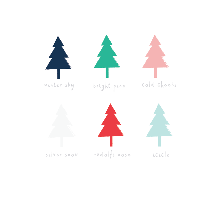 A little candy christmas colour palette I've been using recently. I love the red and the pink together!