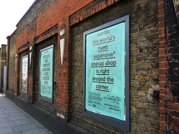 Advertising Worth Pop Up Shop
