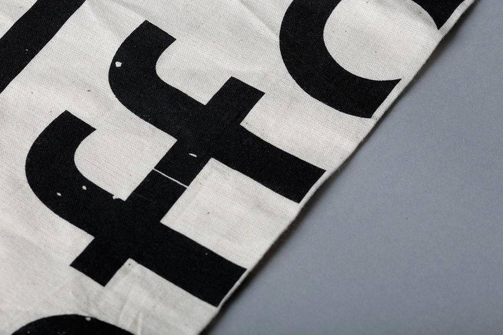 Typographic Tote Bag