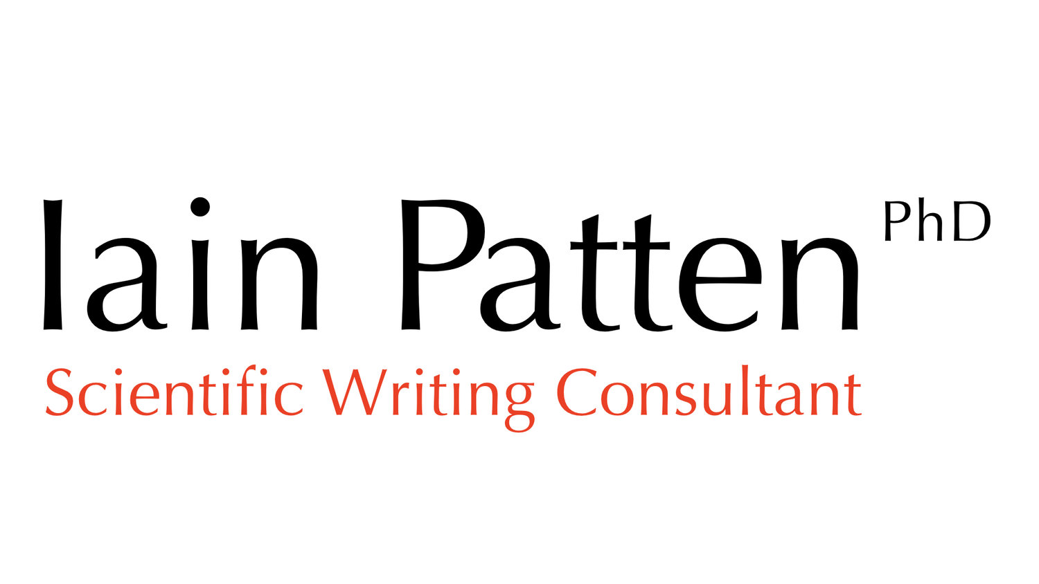 Iain Patten, Scientific Writing Consultant