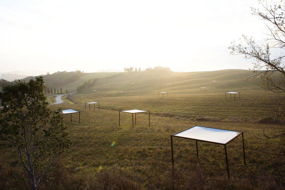 Installation réelle des pergolas sur un domaine en Toscane - Italie