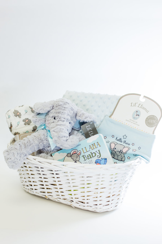 BLUE ELEPHANT MIX+MATCH BABY BASKET -