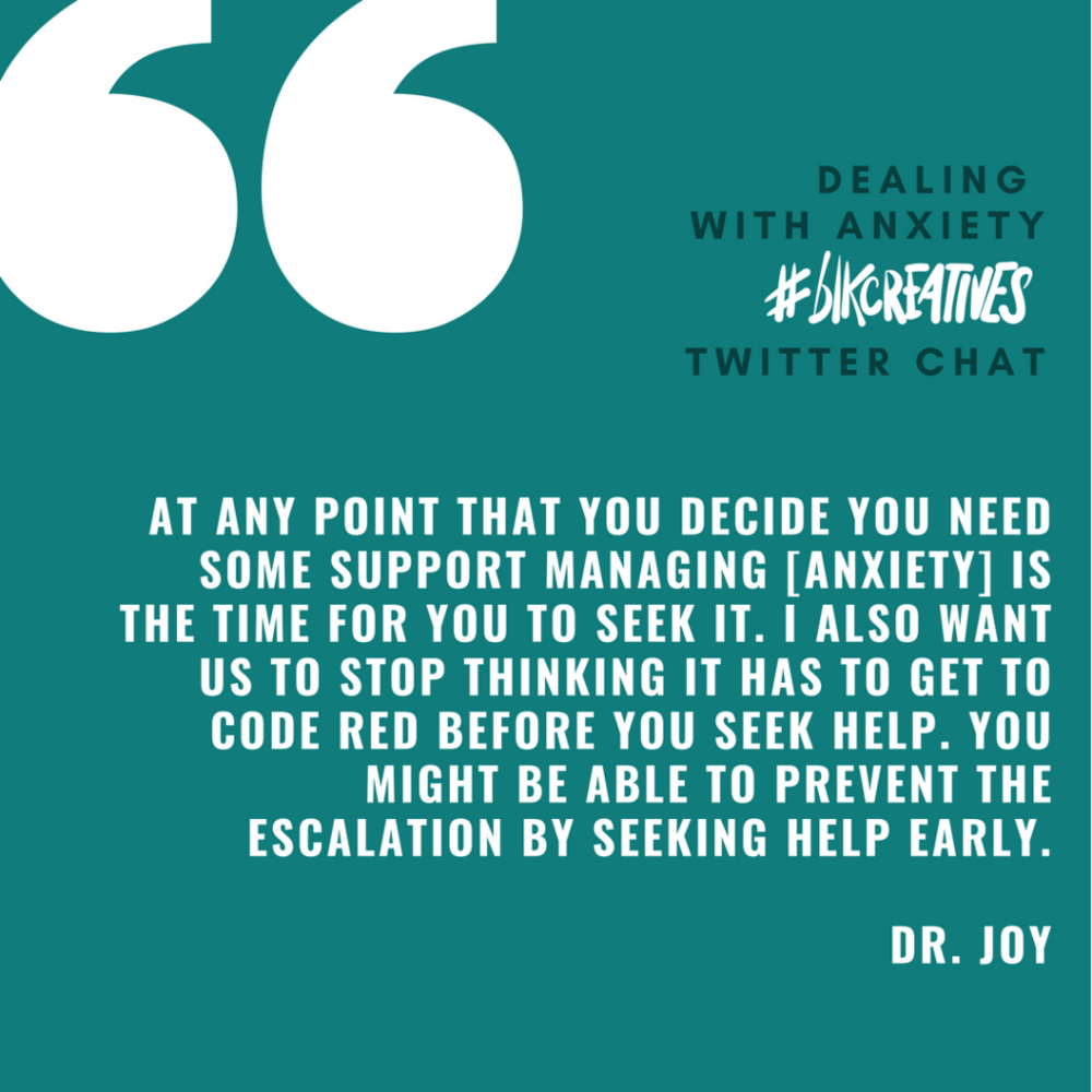 therapy for black girls #blkcreatives Twitter chat Dr. Joy Harden