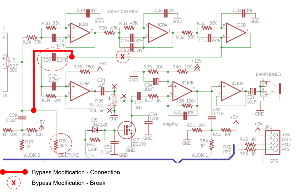 QRP Labs, QCX Modification Project Note