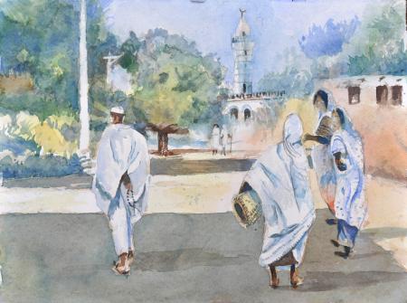 Painting by Nusreldin Eldouma, Sudan