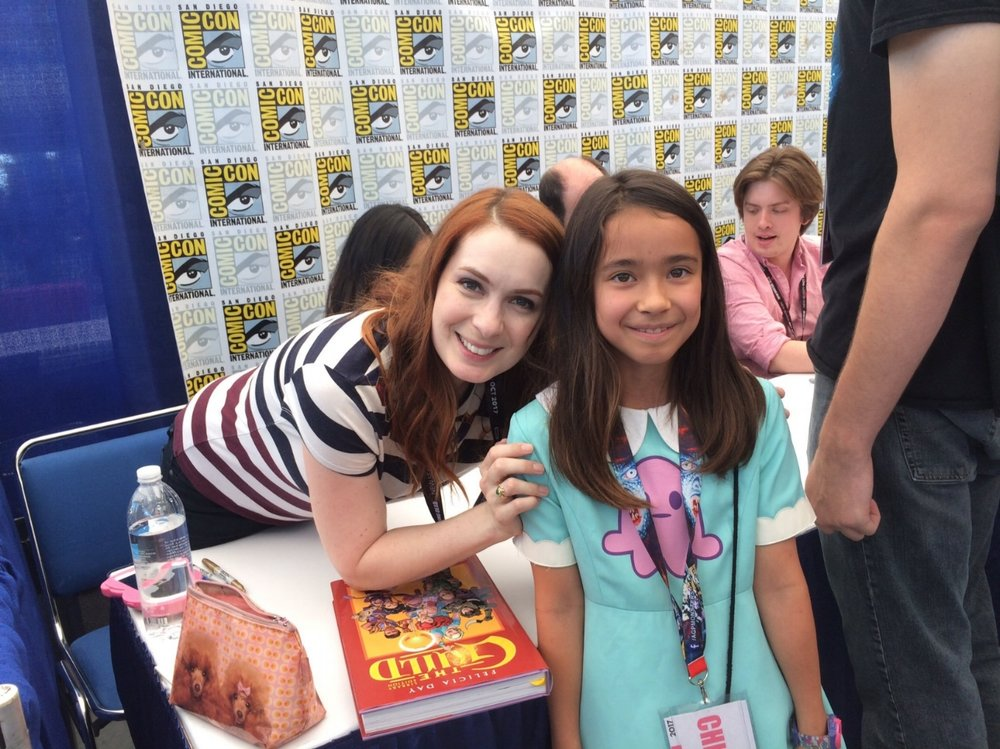 San Diego Comic-Con 2017, Keira and I got to meet the cast of The Guild. Keira is mid-panic attack right…about…now.