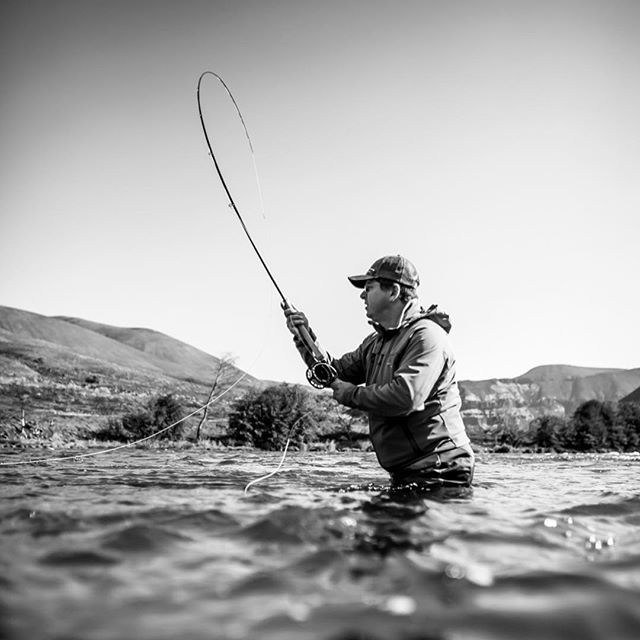 Recent trip on the lower Deschutes with @steelheadoutfitters. My first jet sled ride and Oregon steelhead on the swing. I highly recommend both.  #oregonsteelhead #speycasting #jetboat #deschutesriver #deschutesriversteelhead #simmsflyfishing #gloomisflyrods #hatchflyreels #willieboats #blackandwhitephotography