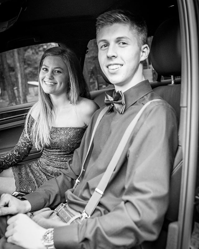 Homecoming 2018. Still in shock over here that its his senior year...where'd the time go? Love these two!  #homecoming2018 #senioryear #itallgoesbytoofast #blackandwhitephotography