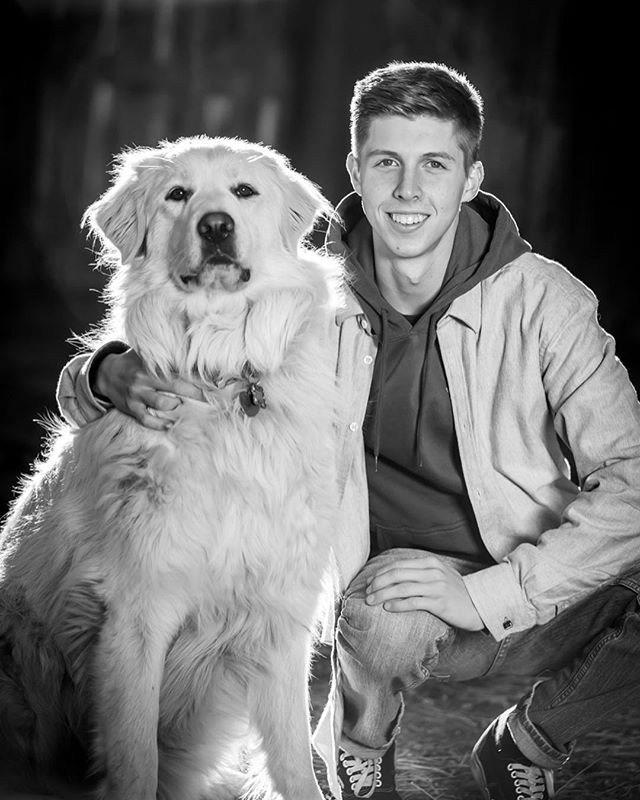 Had a blast shooting my sons senior pics...even got our Great Pyrenees, Juno in there. These are some of my favs from the shoot. Thanks @dailymel for being an awesome assistant!  #senioryear2018 #seniorphotos #wheredthetimego #greatpyrenees #greatpyreneesofinstagram #blackandwhitephotography