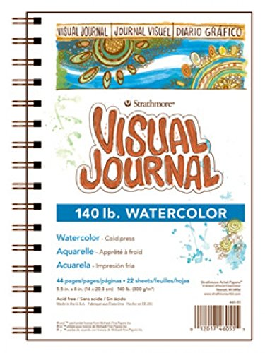 "Strathmore Visual Watercolor Journal, 140 LB 5.5""x8"" 22 Sheets"